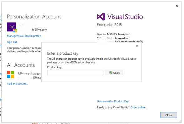 my product keys - msdn subscriptions