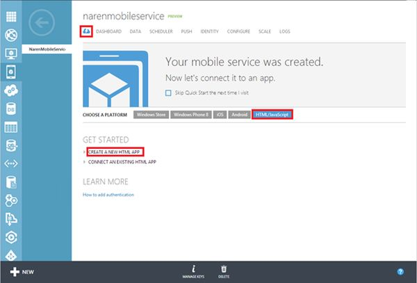 How To Use Mobile Service In Html  Javascript Application