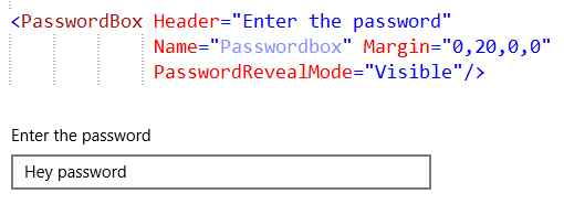 Password char visible