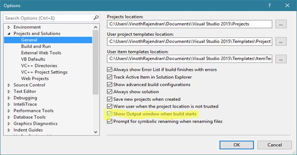 Visual Studio Extension Build Output In New Window