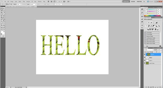 how to create a clipping mask in photoshop 7.0