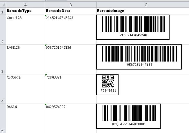 read barcodes from excel file. Black Bedroom Furniture Sets. Home Design Ideas
