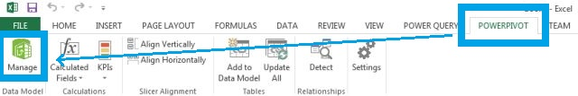 powerpivot manage