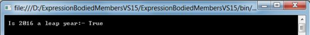 method expression bodied