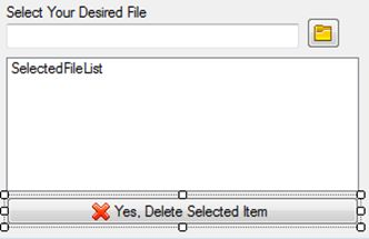Delete Button of the ListBox