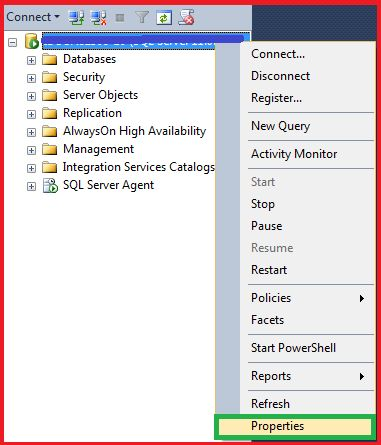 enable Mixed Mode/SQL Server Authentication mode
