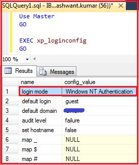 Authentication Mode in SQL Server