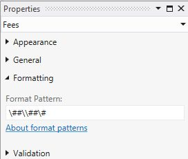 Format pattern with double backslash