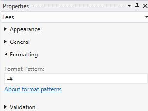 Submit -# in Format Pattern