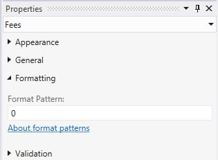 Submit 0 in Format Pattern