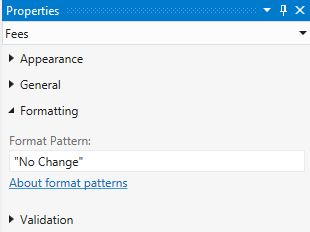 Submit No Change String in Format Pattern