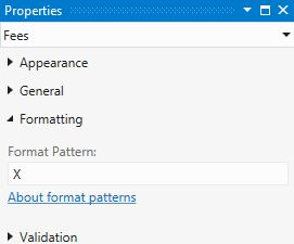 Format Pattern in Properties