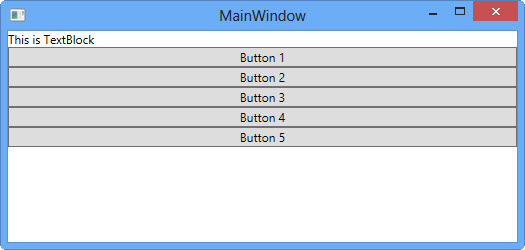 Example Changing The Orientation Of StackPanel To Horizontal