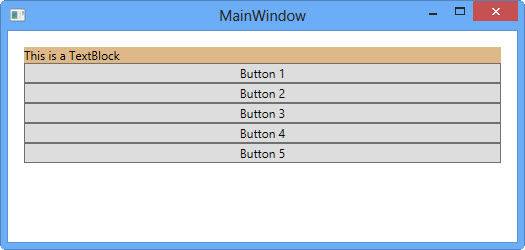 StackPanel In WPF