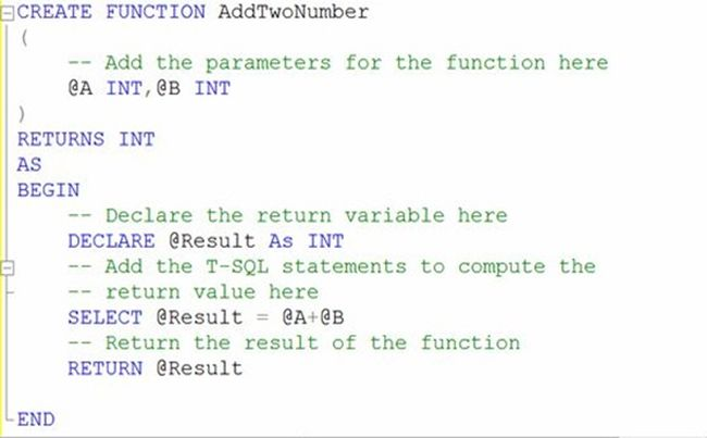 SQL Server Function example