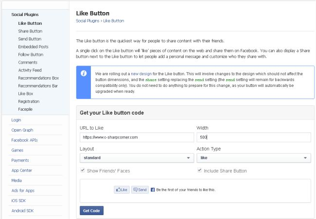 Fill Like button Form