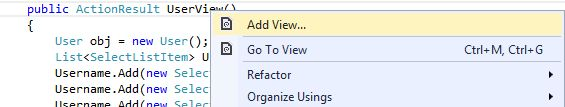 Select Add View for creating the View