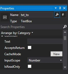 TextBox Properties in Windows Phone