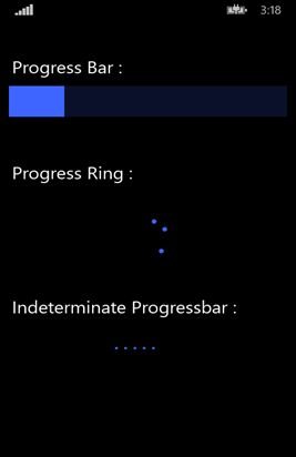 Show Progress Bar in windows phone