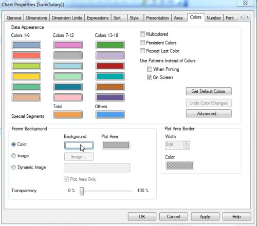 Load BackGround Color In QlikView Script