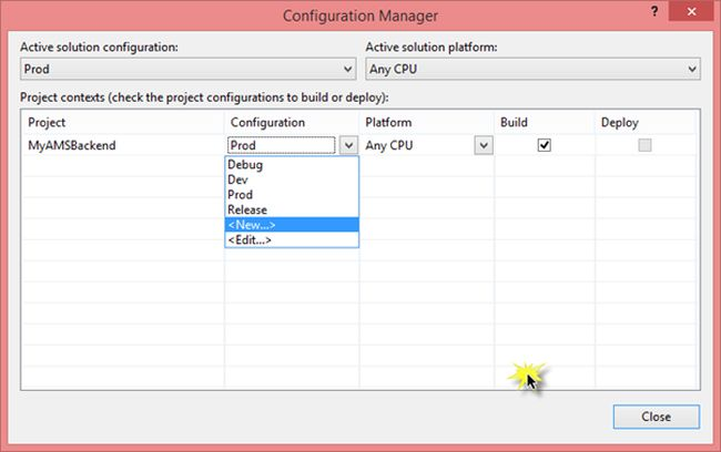 configure manager
