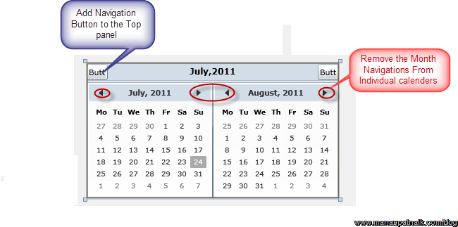 calander control in silverlight