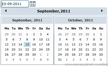 Calender control in silverlight