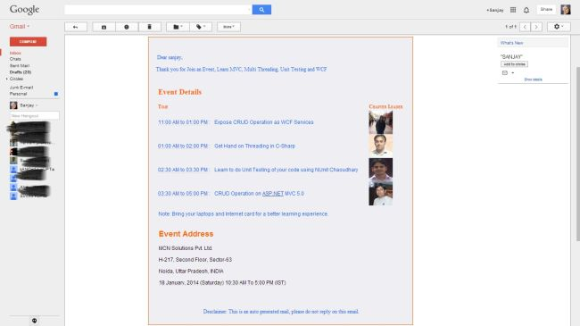 View Email on Gmail acount