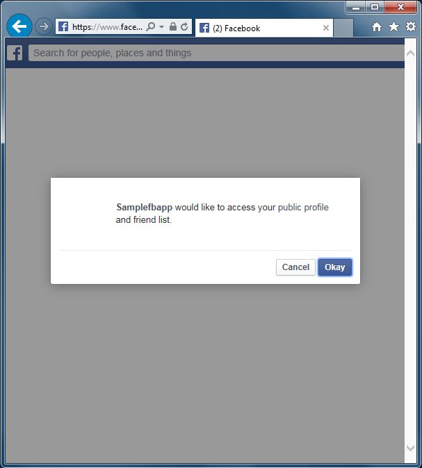 Creating Facebook Template in Visual Studio 2013 Preview