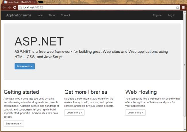 ASP.NET Web Forms Home Page
