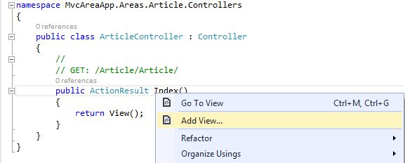 how to add view in mvc 4