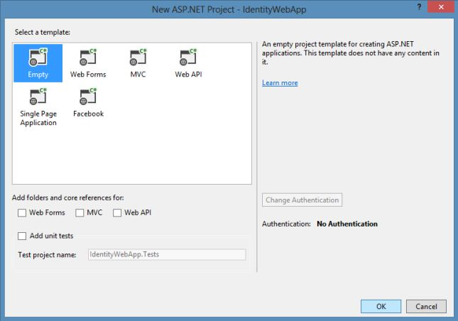 Empty Project Template in VS 2013