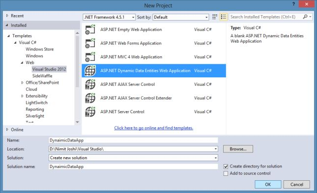 Getting Started With Preview of Dynamic Data and Entity Data For EF 6