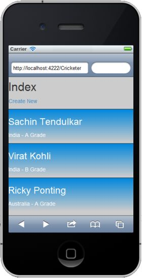 jQuery mobile View
