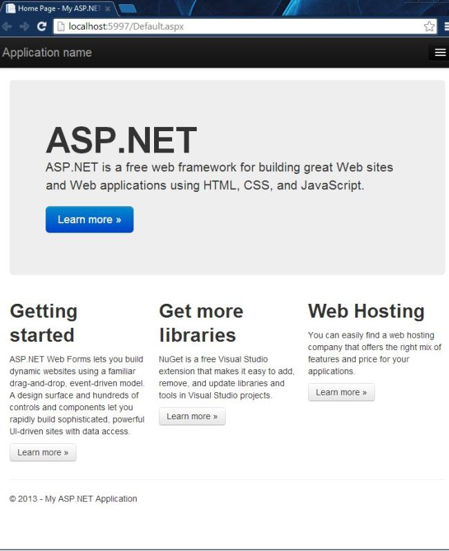 Introduction to Web Project Templates in Visual Studio 2013 Preview