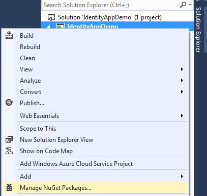Manage NuGet in Project