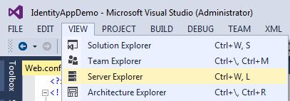 Server Explorer in View