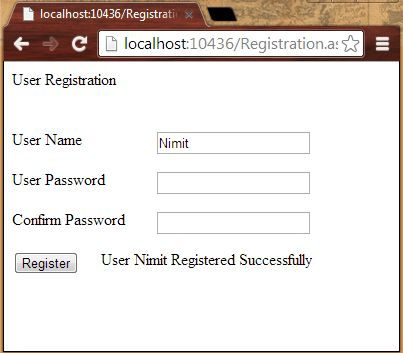Successful Registration