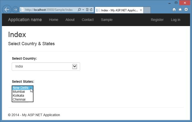How to apply bootstrap dropdown style to an asp. Net mvc.