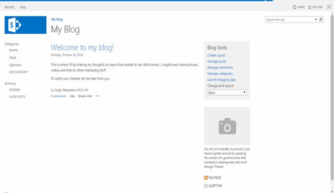 sharepoint site template