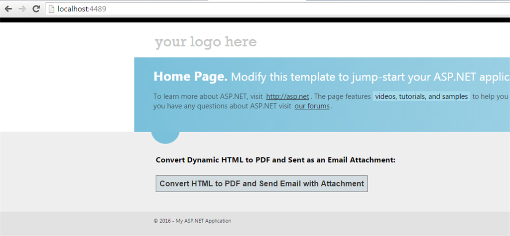 Convert HTML String To PDF Via iTextSharp Library And Send As An ...