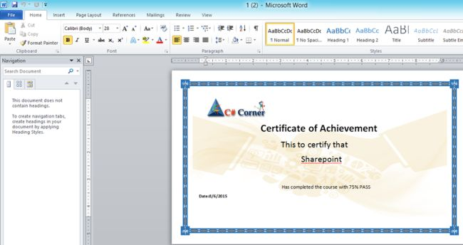 how to create a certificate in word