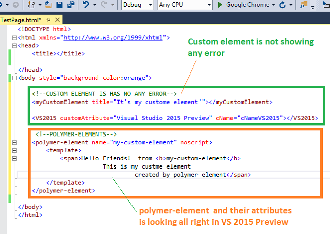 Improvements In Html Editor With Visual Studio 2015