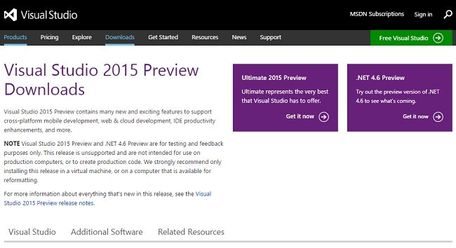 NET Framework 4.6 New Features in Visual Studio 2015