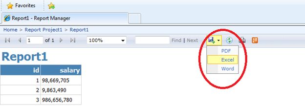 customize reporting manager default web site