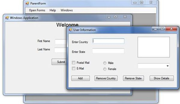 Building MDI WinForms Application using C#
