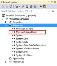 VisualBasic namespace