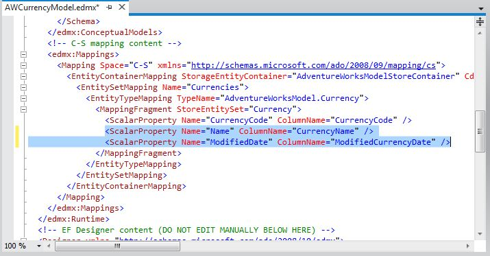 Modifying the C-S mapping content section