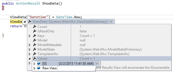 how to use viewdata in mvc view