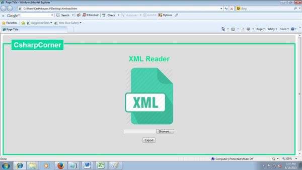 Read xml document using vbscript and html5 xml reader home page sciox Images